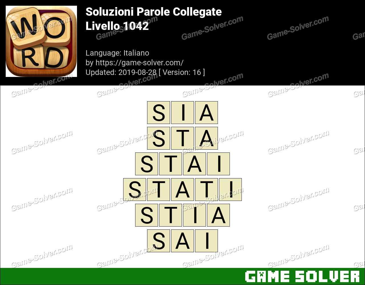 Soluzioni Parole Collegate Livello 1042