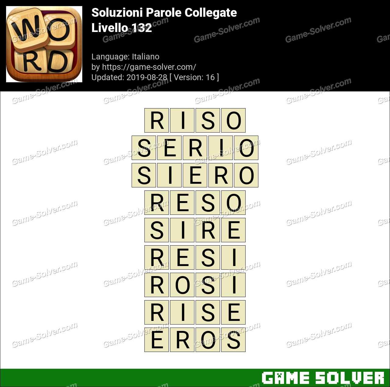 Soluzioni Parole Collegate Livello 132