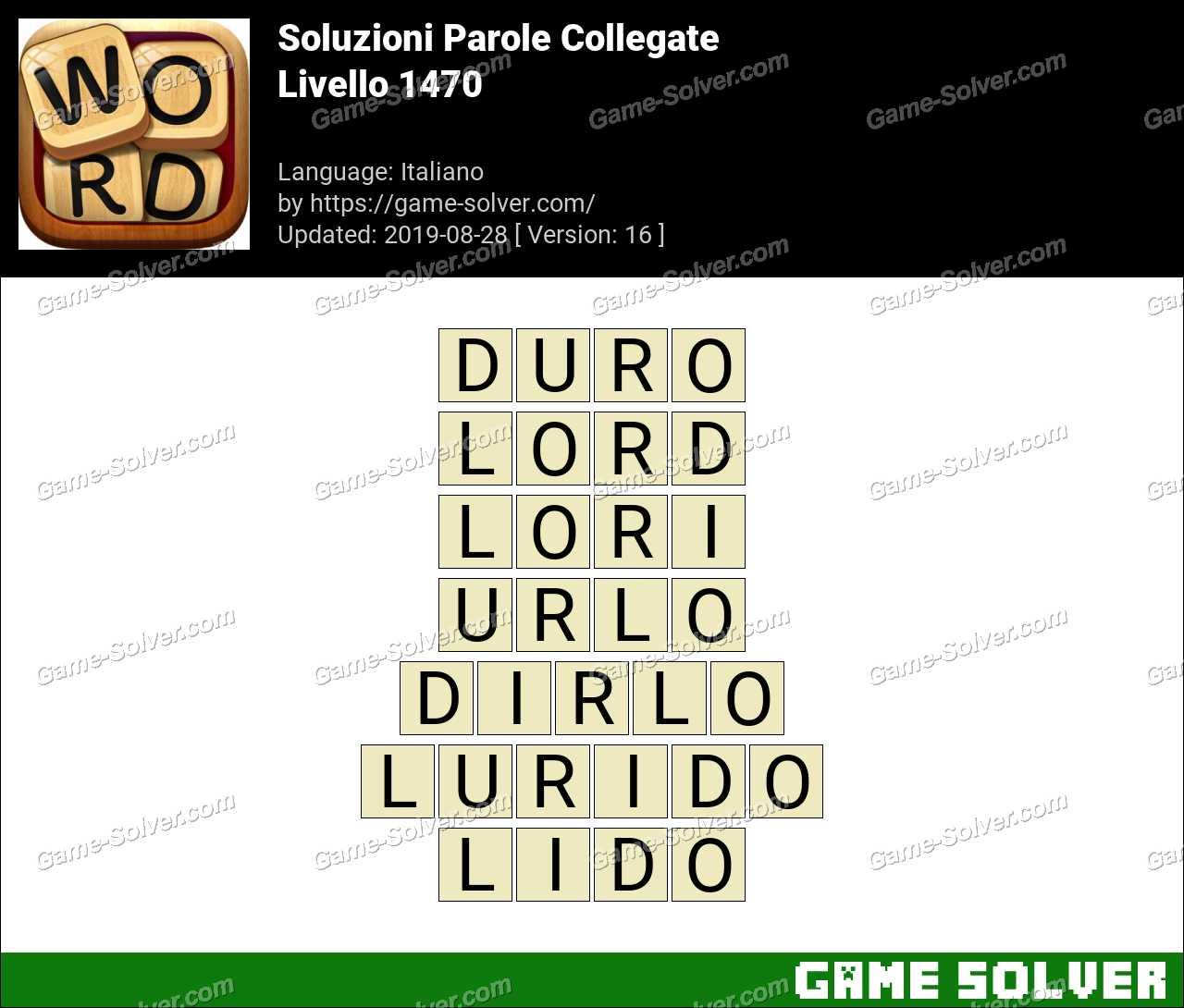 Soluzioni Parole Collegate Livello 1470