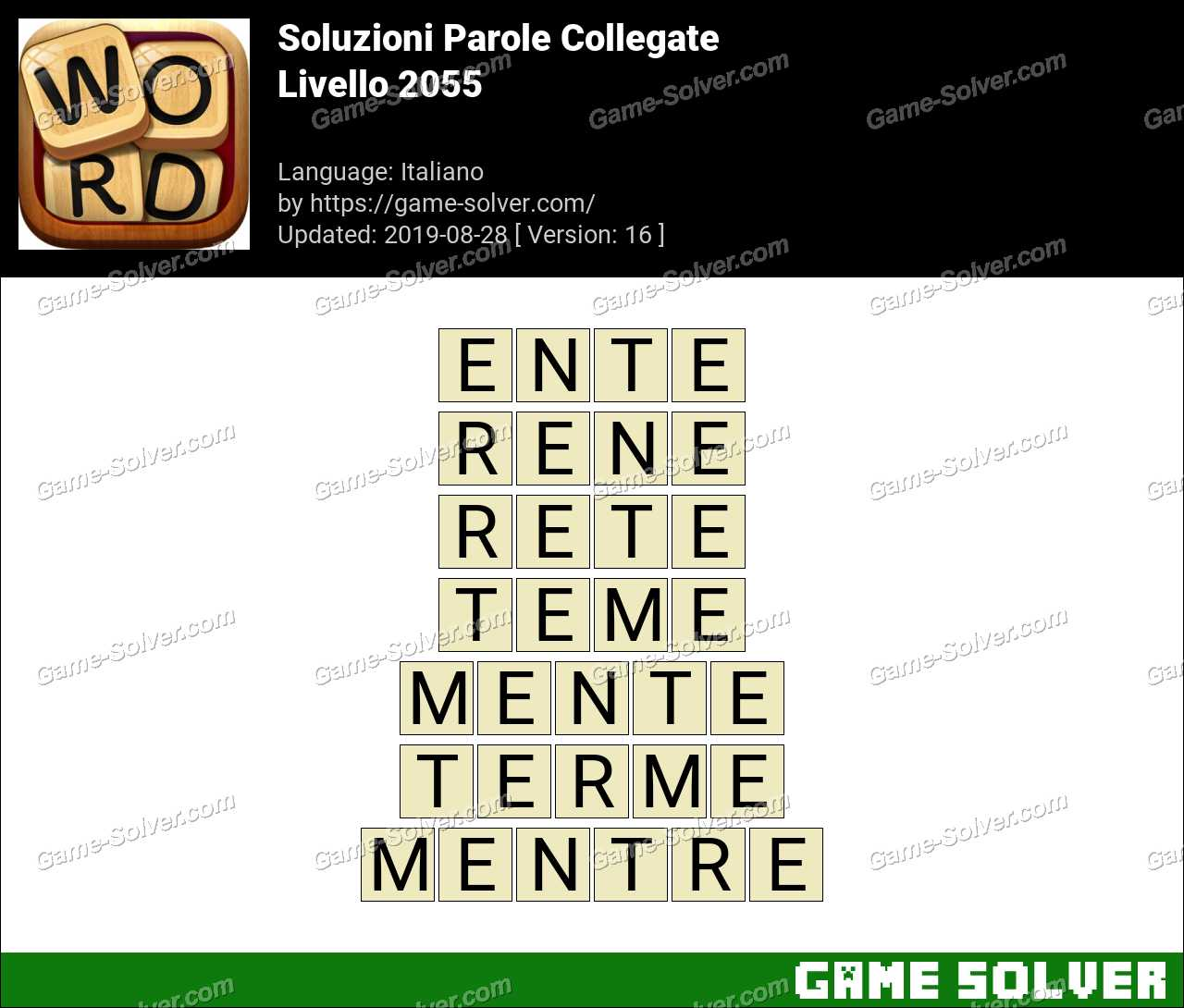 Soluzioni Parole Collegate Livello 2055