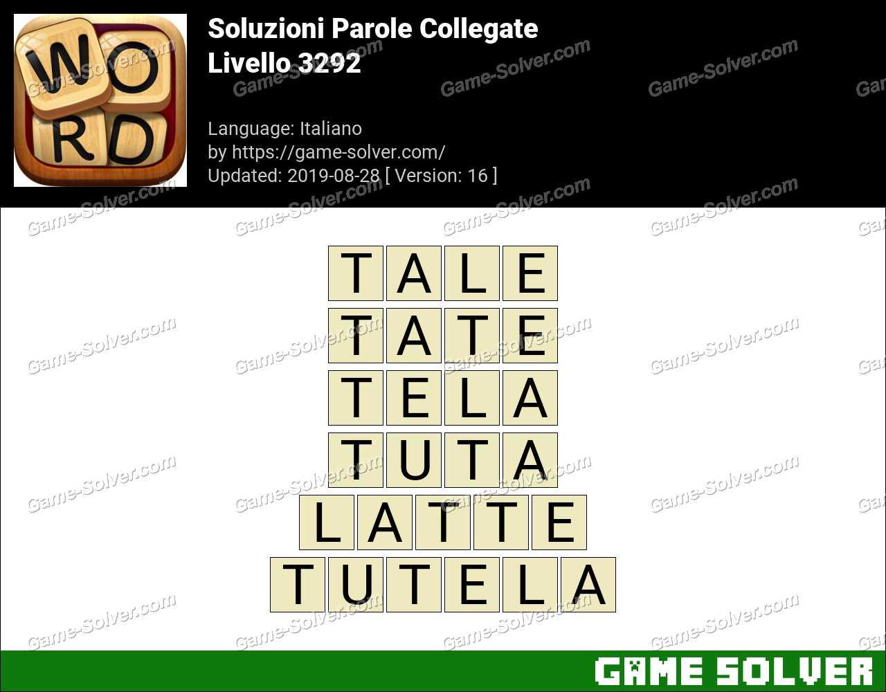 Soluzioni Parole Collegate Livello 3292
