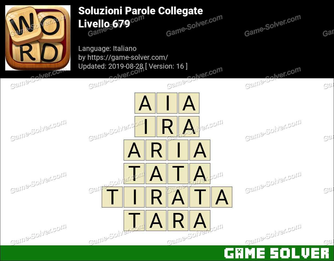 Soluzioni Parole Collegate Livello 679