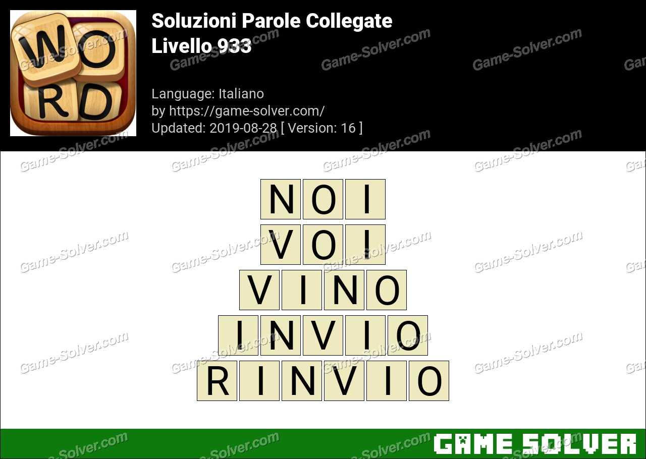 Soluzioni Parole Collegate Livello 933