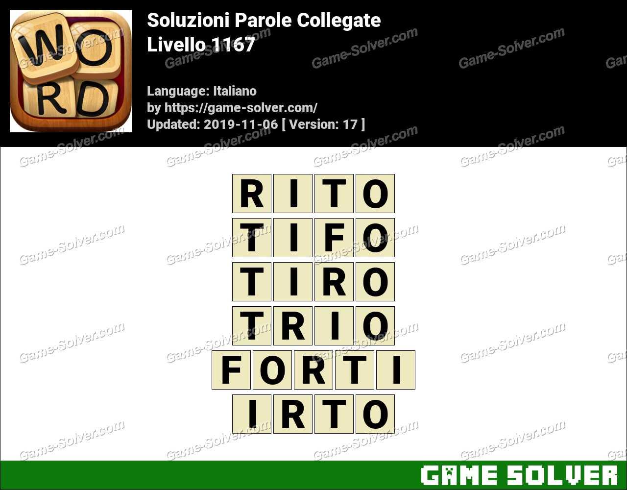 Soluzioni Parole Collegate Livello 1167