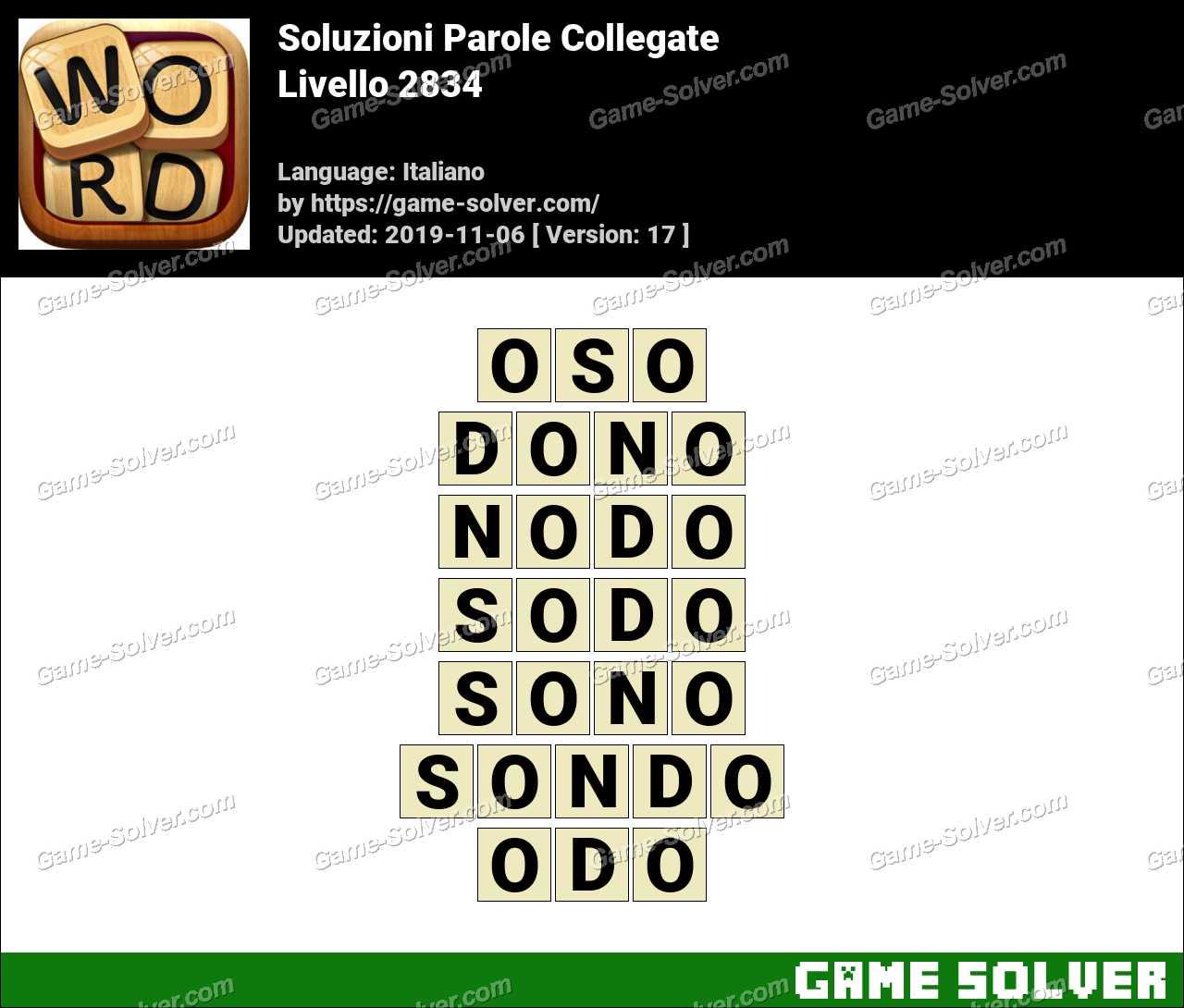 Soluzioni Parole Collegate Livello 2834