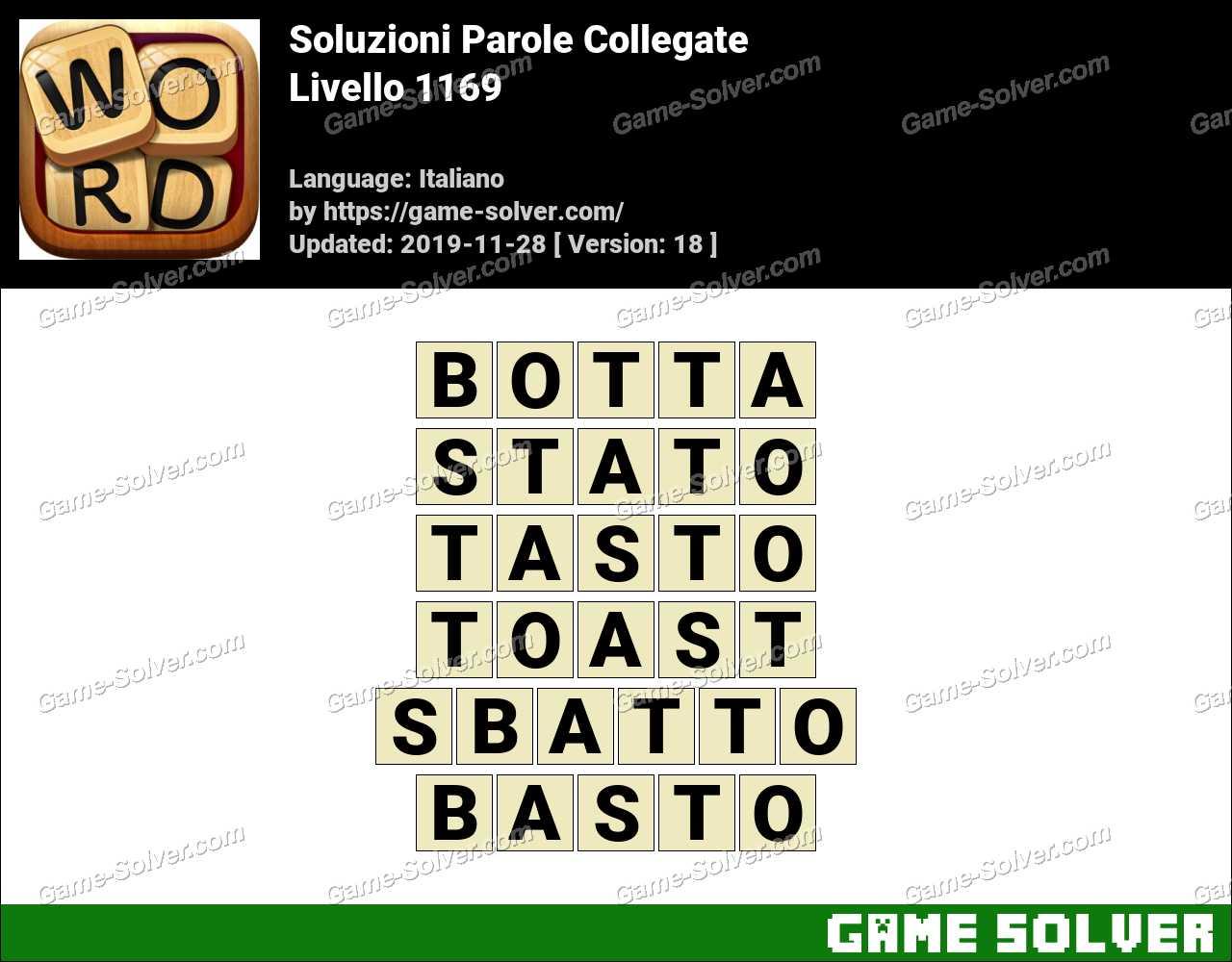 Soluzioni Parole Collegate Livello 1169