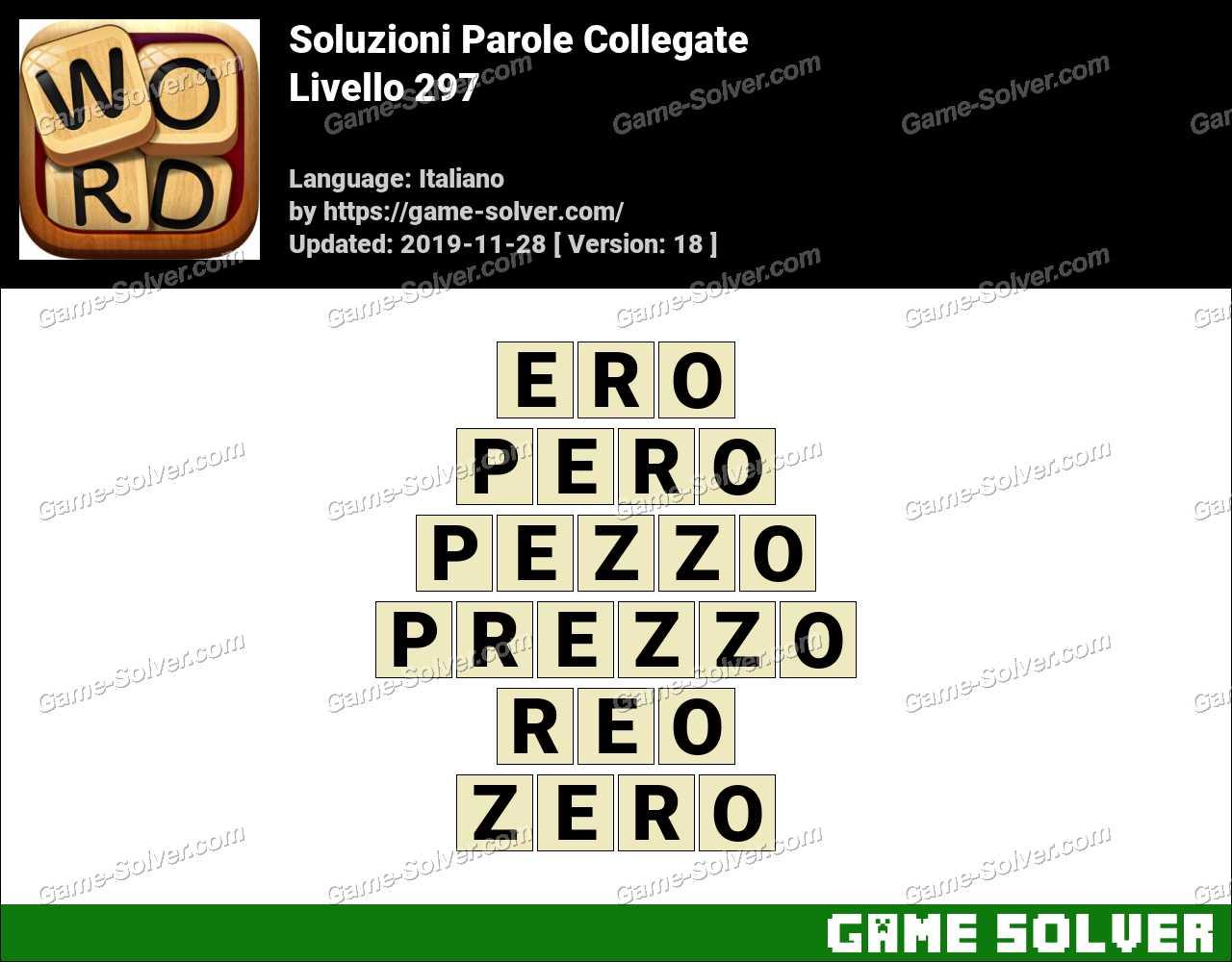 Soluzioni Parole Collegate Livello 297