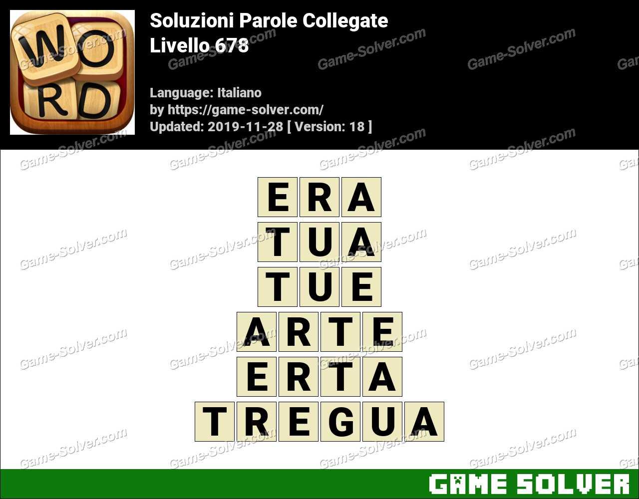 Soluzioni Parole Collegate Livello 678