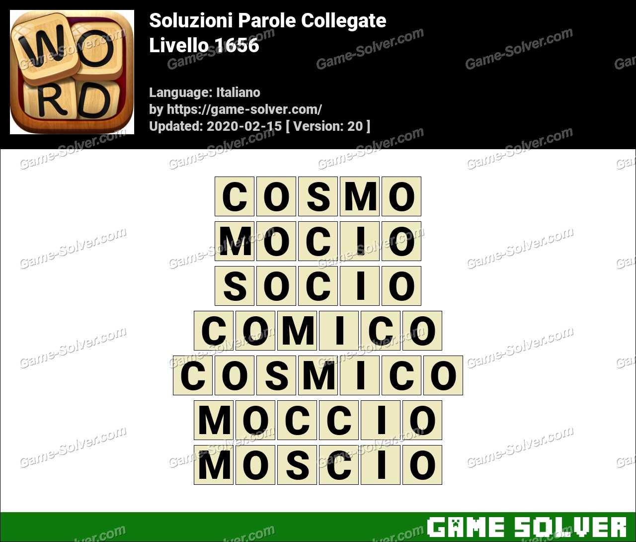 Soluzioni Parole Collegate Livello 1656