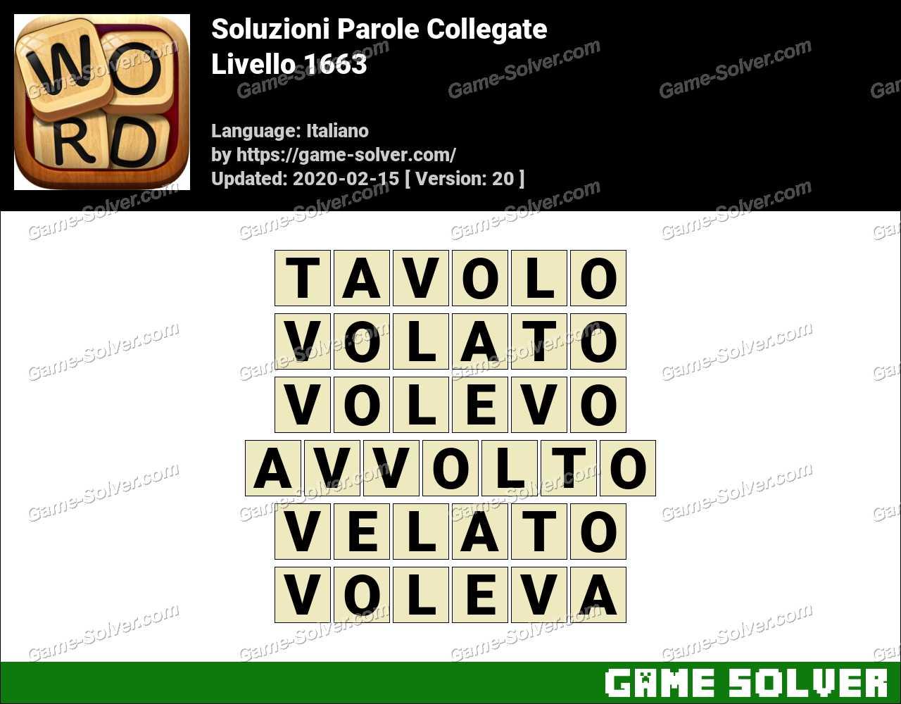 Soluzioni Parole Collegate Livello 1663