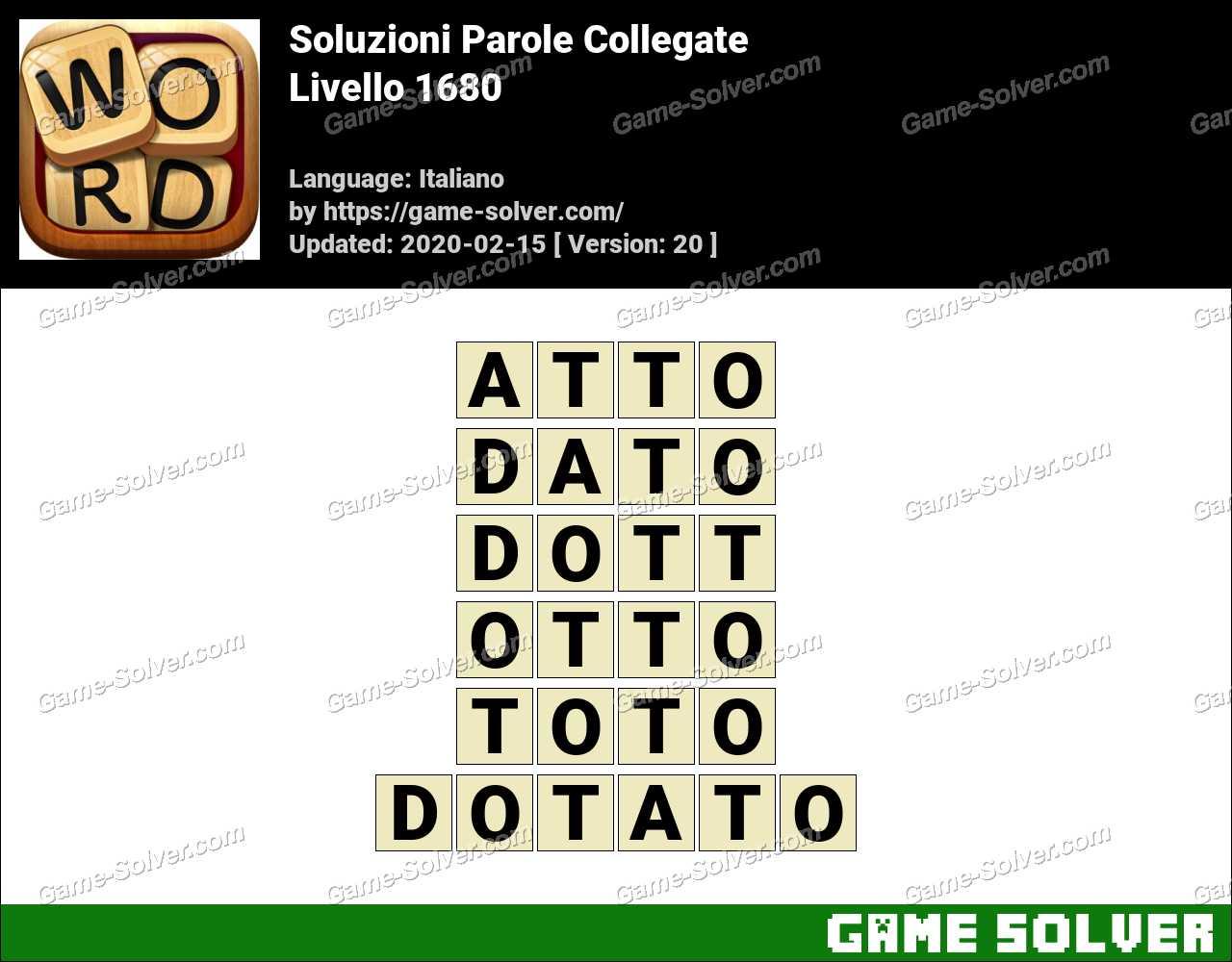 Soluzioni Parole Collegate Livello 1680