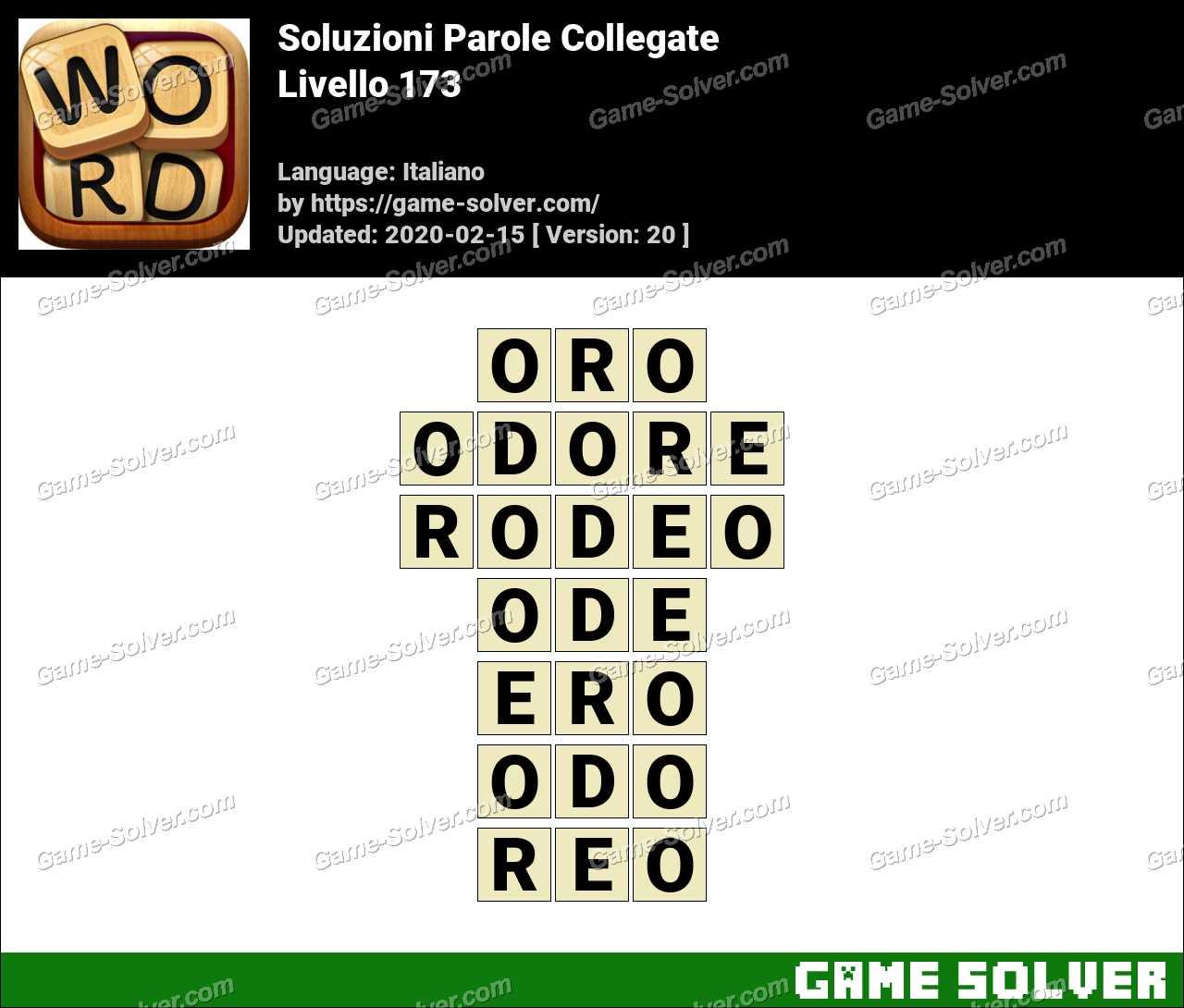 Soluzioni Parole Collegate Livello 173
