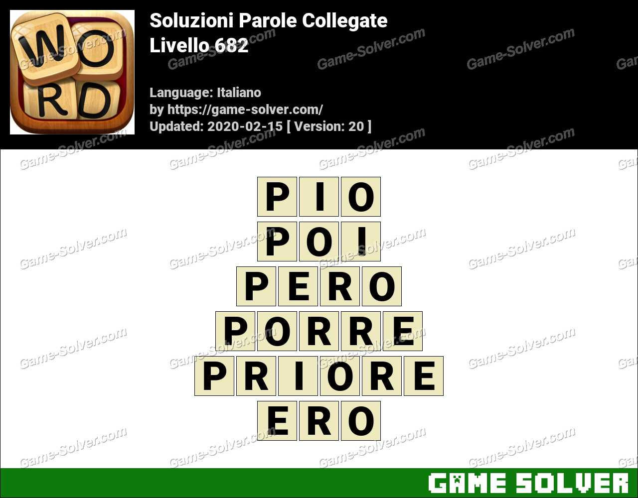Soluzioni Parole Collegate Livello 682