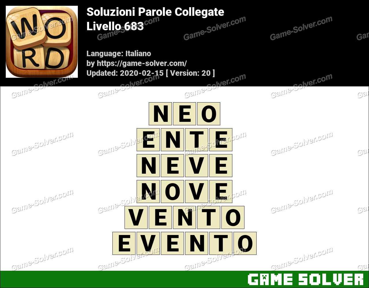 Soluzioni Parole Collegate Livello 683