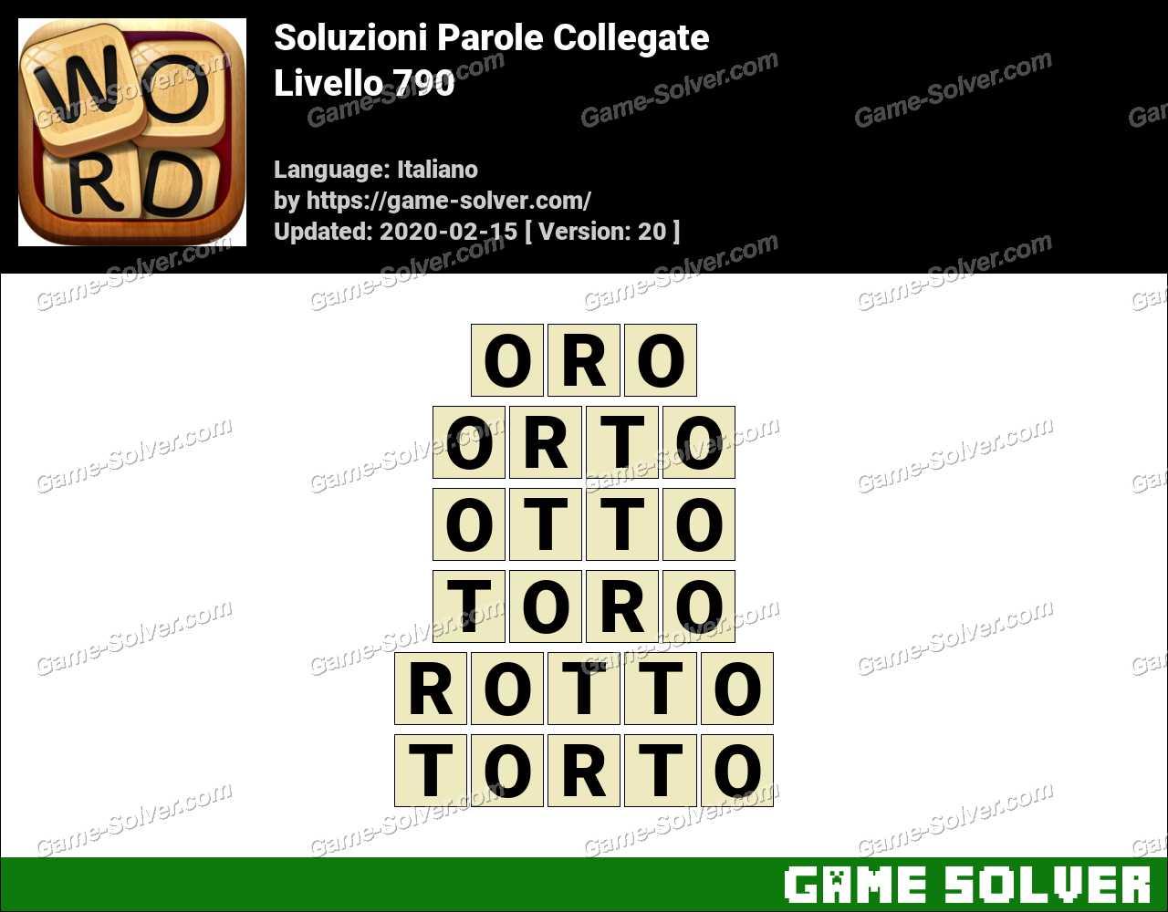 Soluzioni Parole Collegate Livello 790