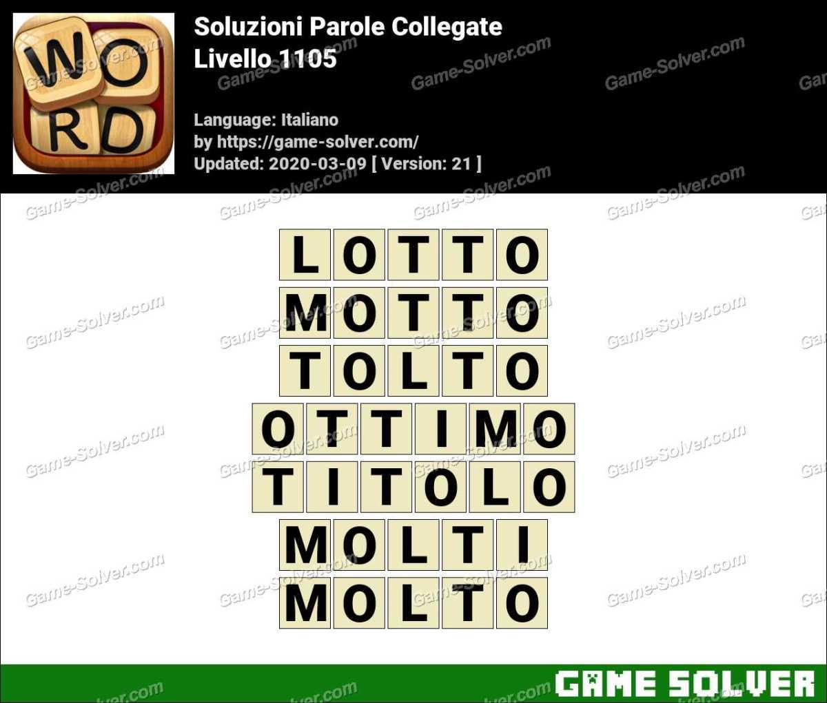 Soluzioni Parole Collegate Livello 1105