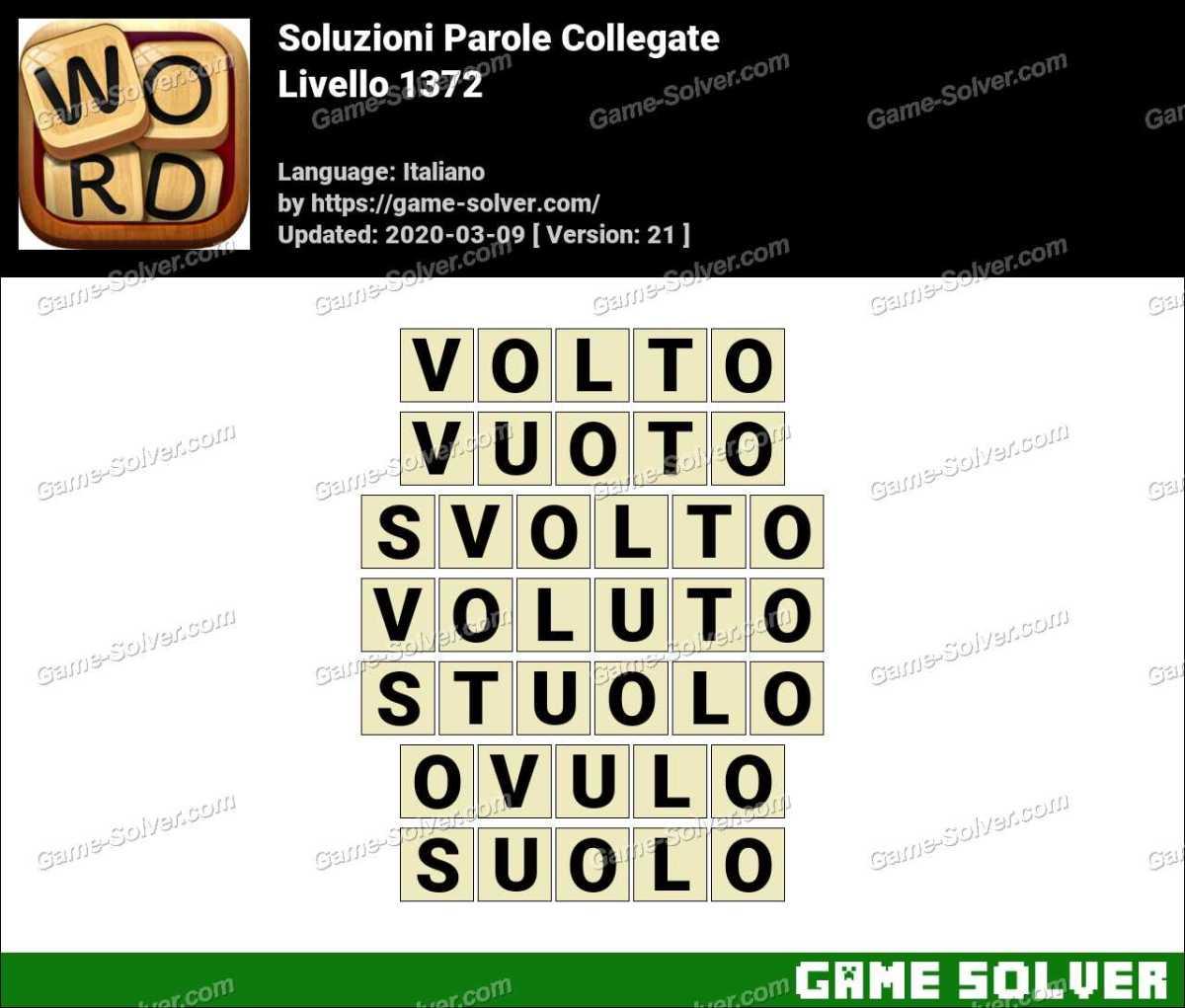 Soluzioni Parole Collegate Livello 1372