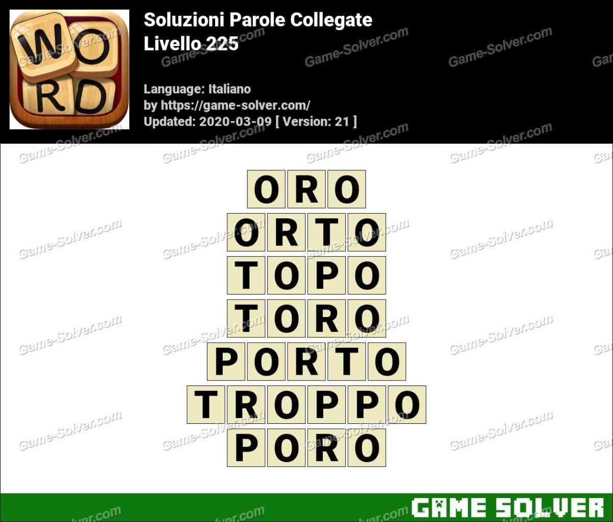 Soluzioni Parole Collegate Livello 225