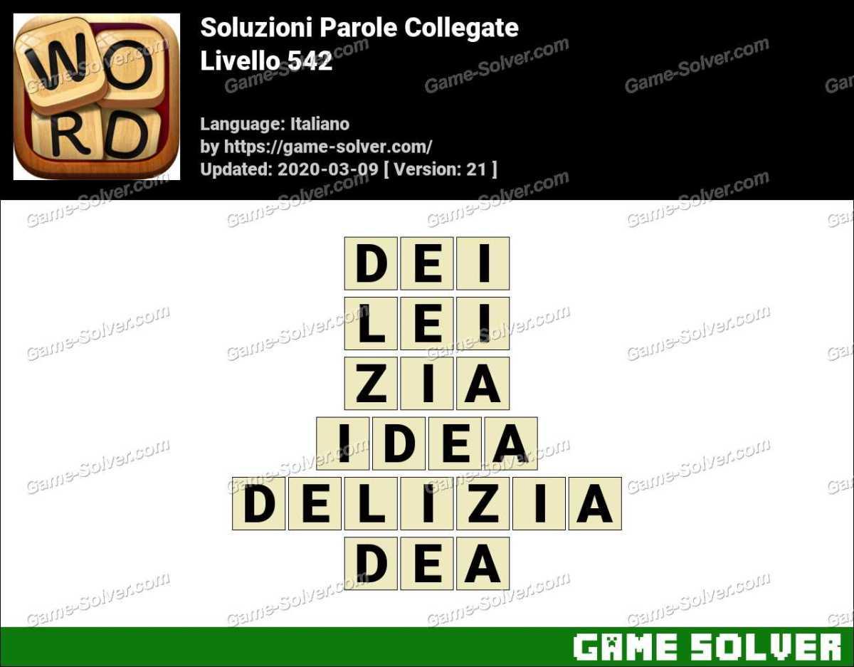 Soluzioni Parole Collegate Livello 542