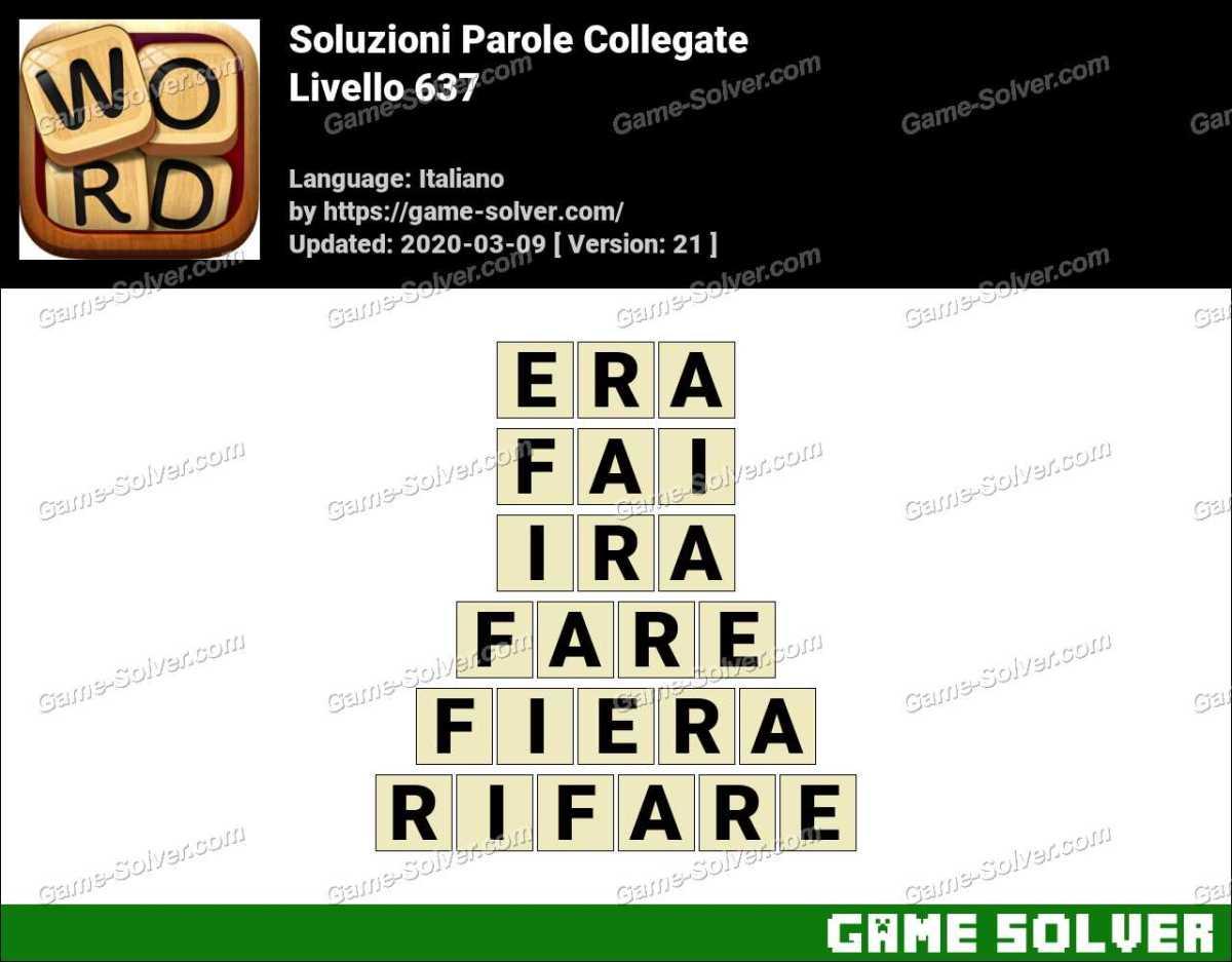 Soluzioni Parole Collegate Livello 637