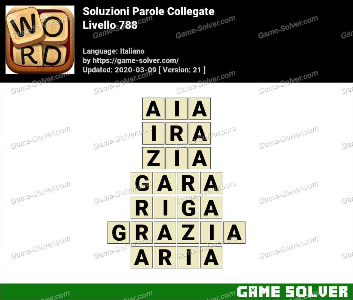Soluzioni Parole Collegate Livello 788