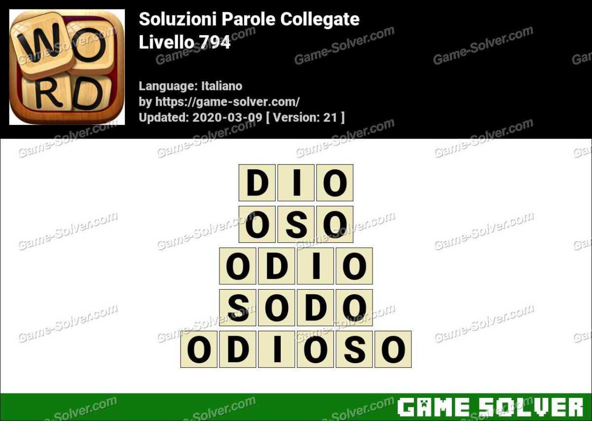 Soluzioni Parole Collegate Livello 794