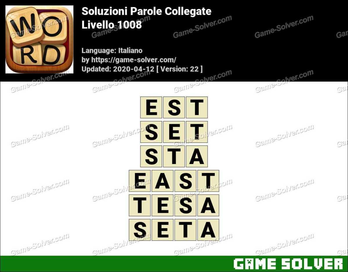 Soluzioni Parole Collegate Livello 1008