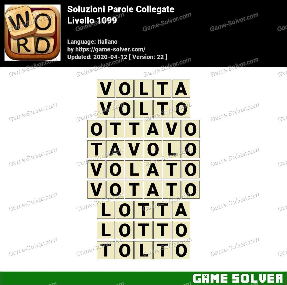 Soluzioni Parole Collegate Livello 1099