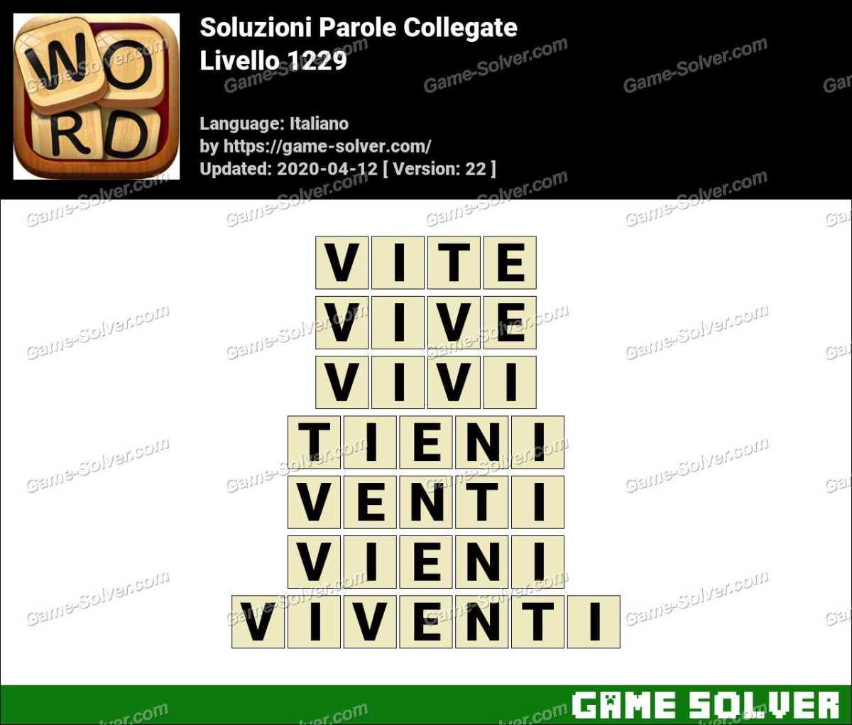 Soluzioni Parole Collegate Livello 1229