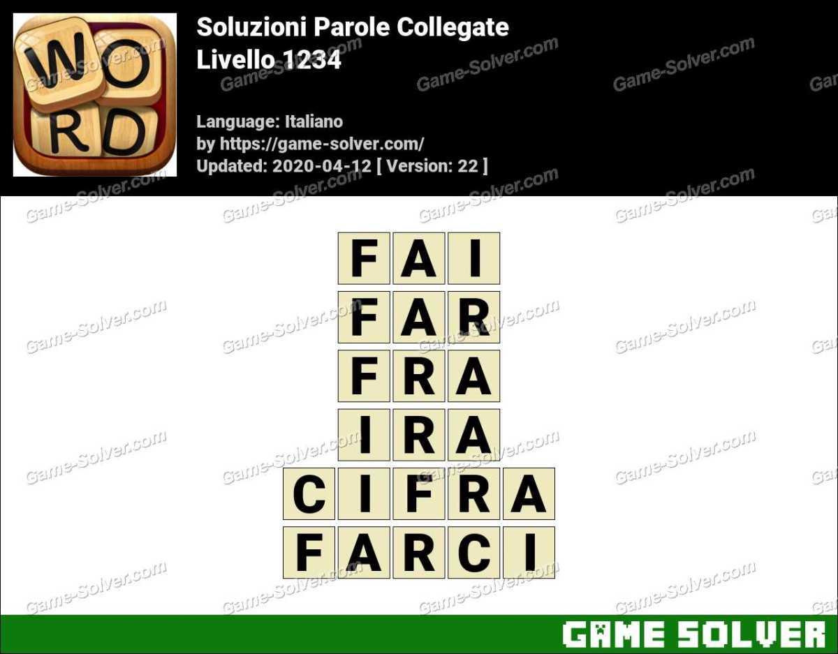 Soluzioni Parole Collegate Livello 1234