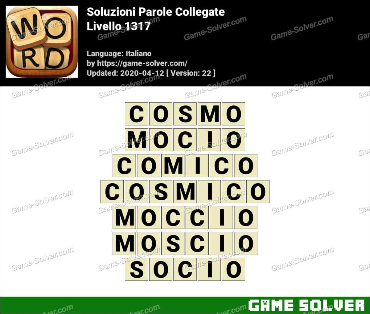 Soluzioni Parole Collegate Livello 1317