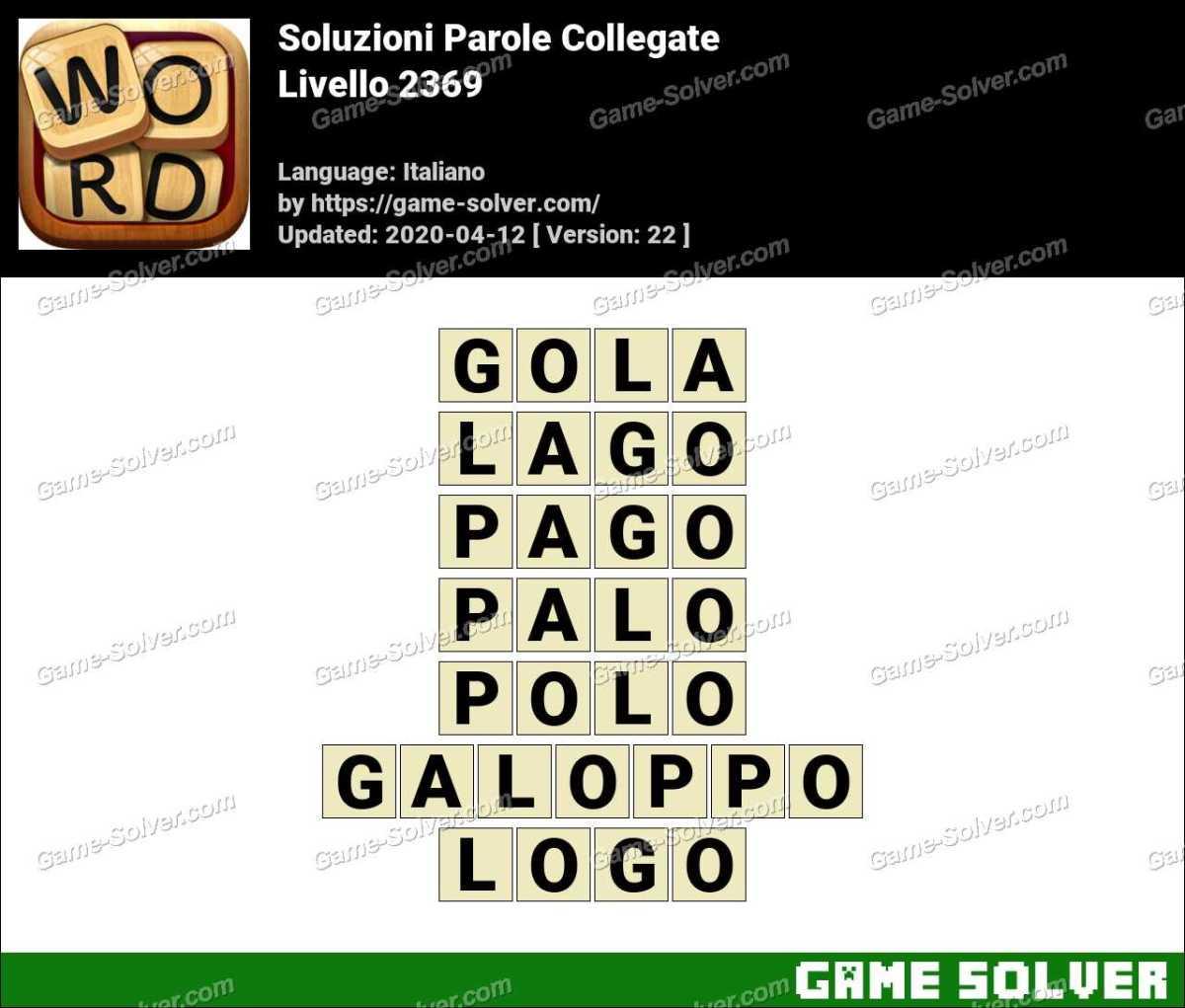 Soluzioni Parole Collegate Livello 2369