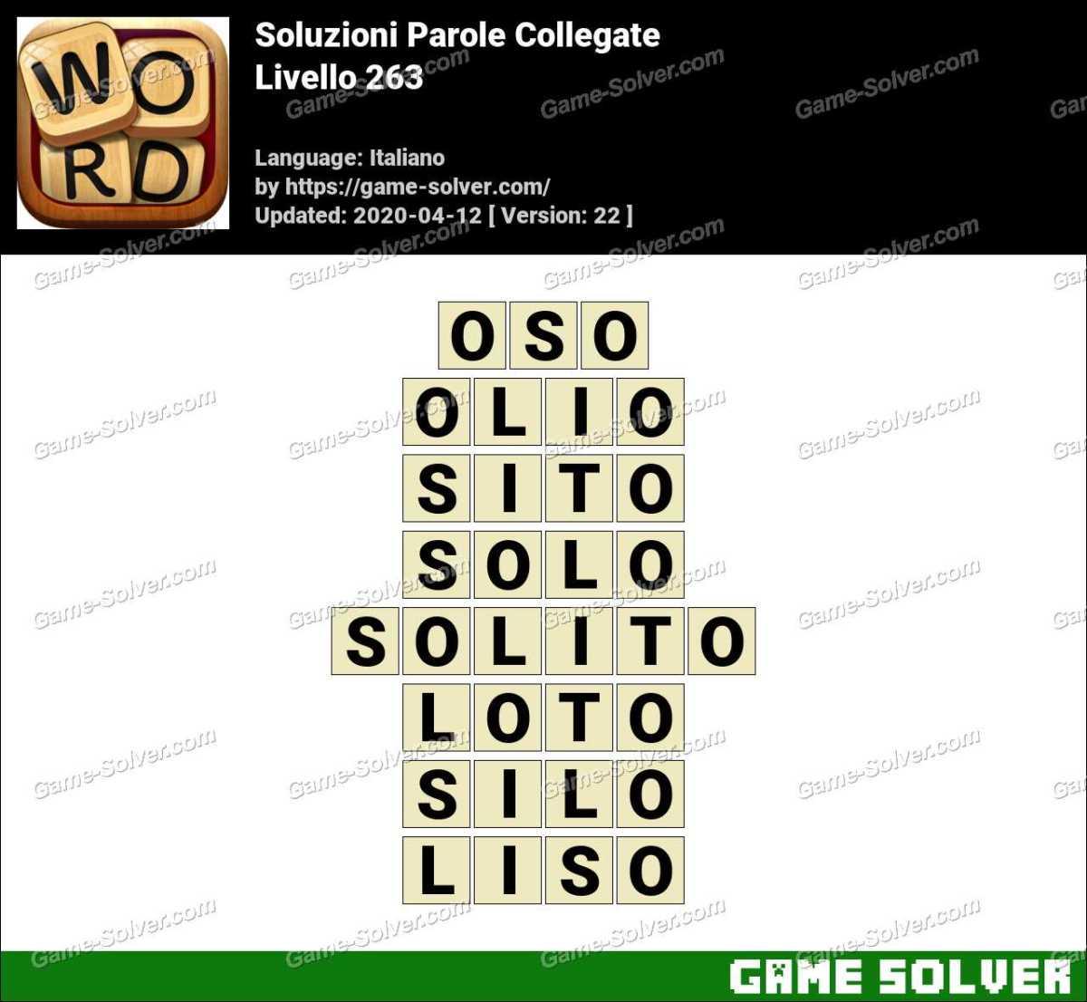 Soluzioni Parole Collegate Livello 263