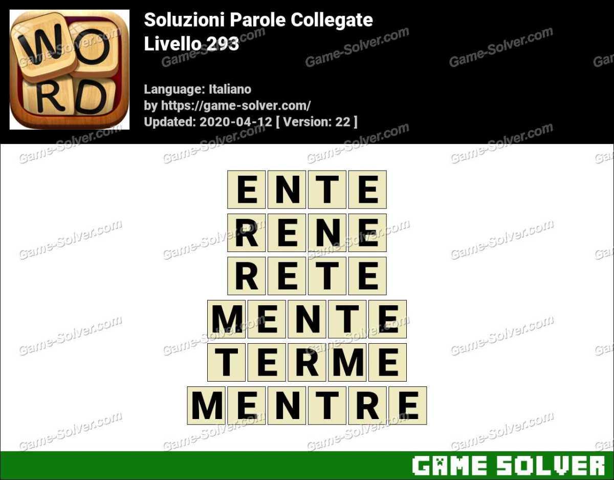 Soluzioni Parole Collegate Livello 293