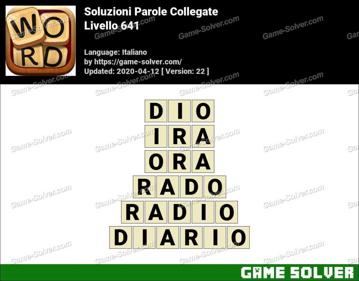 Soluzioni Parole Collegate Livello 641