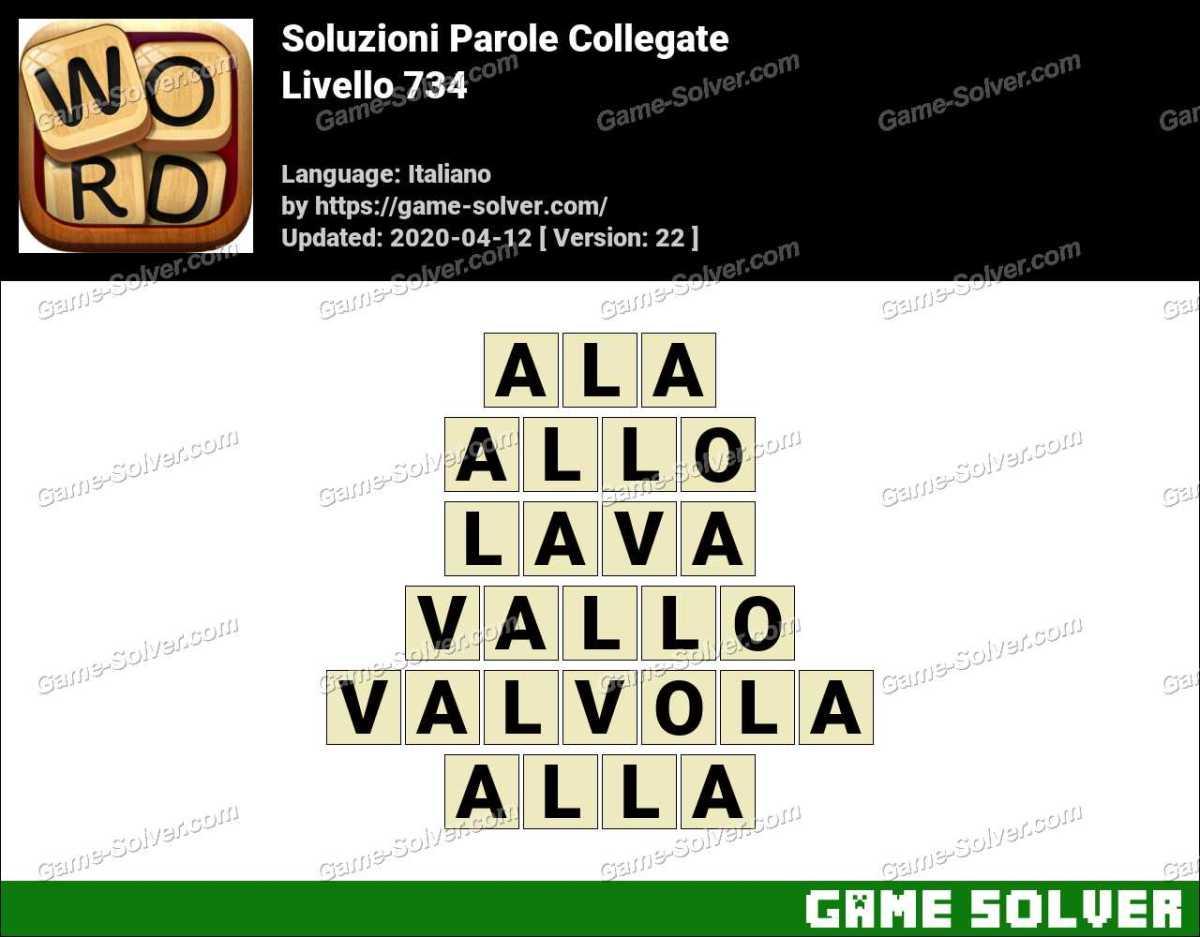 Soluzioni Parole Collegate Livello 734