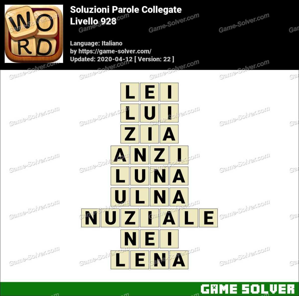Soluzioni Parole Collegate Livello 928