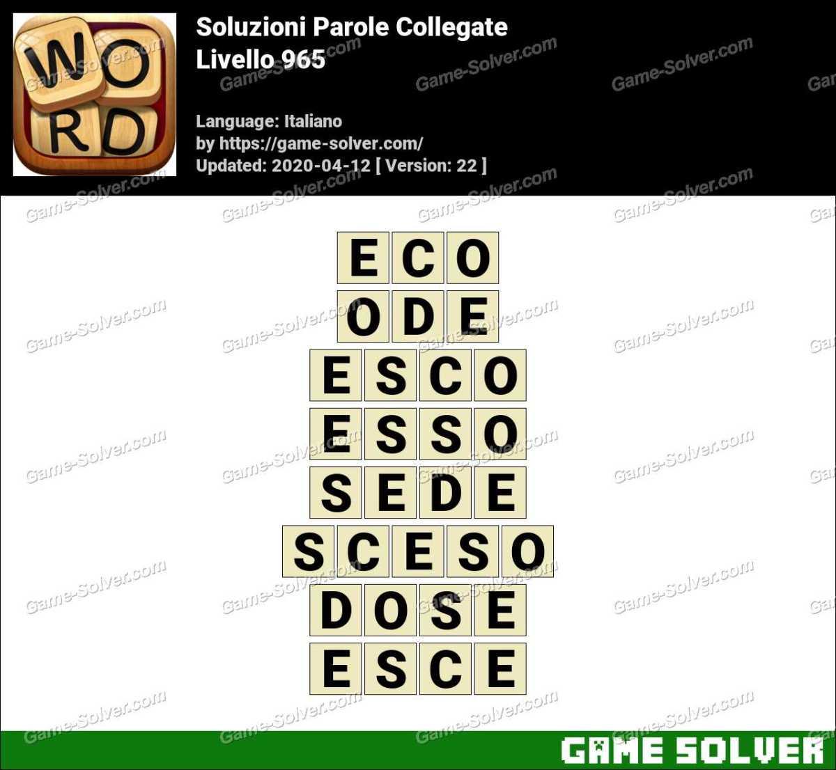 Soluzioni Parole Collegate Livello 965