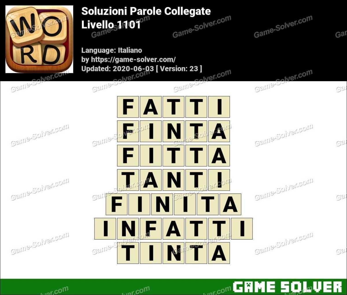 Soluzioni Parole Collegate Livello 1101
