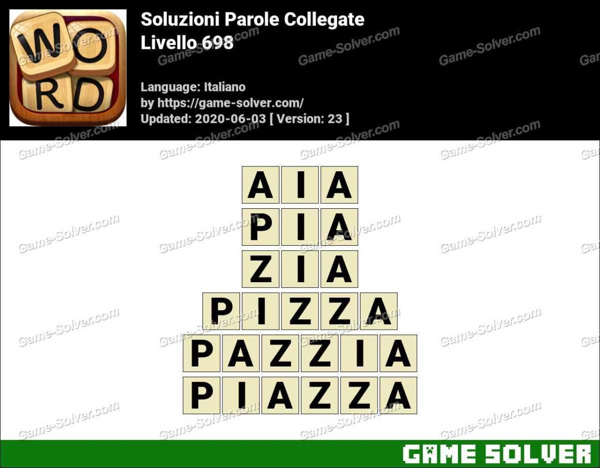 Soluzioni Parole Collegate Livello 698