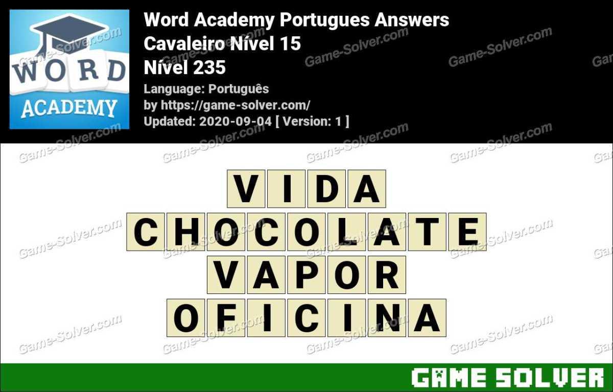 Word Academy Portugues Cavaleiro Nível 15 Answers