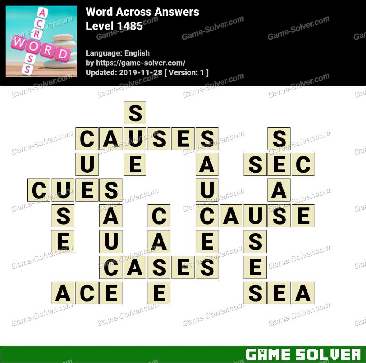 Word Across Level 1485 Answers