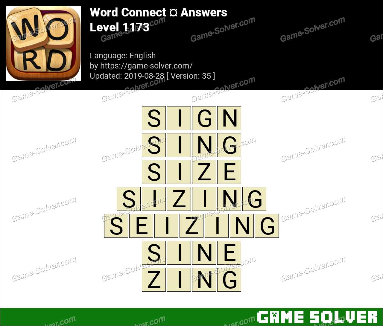 Word Connect Level 1173 Answers