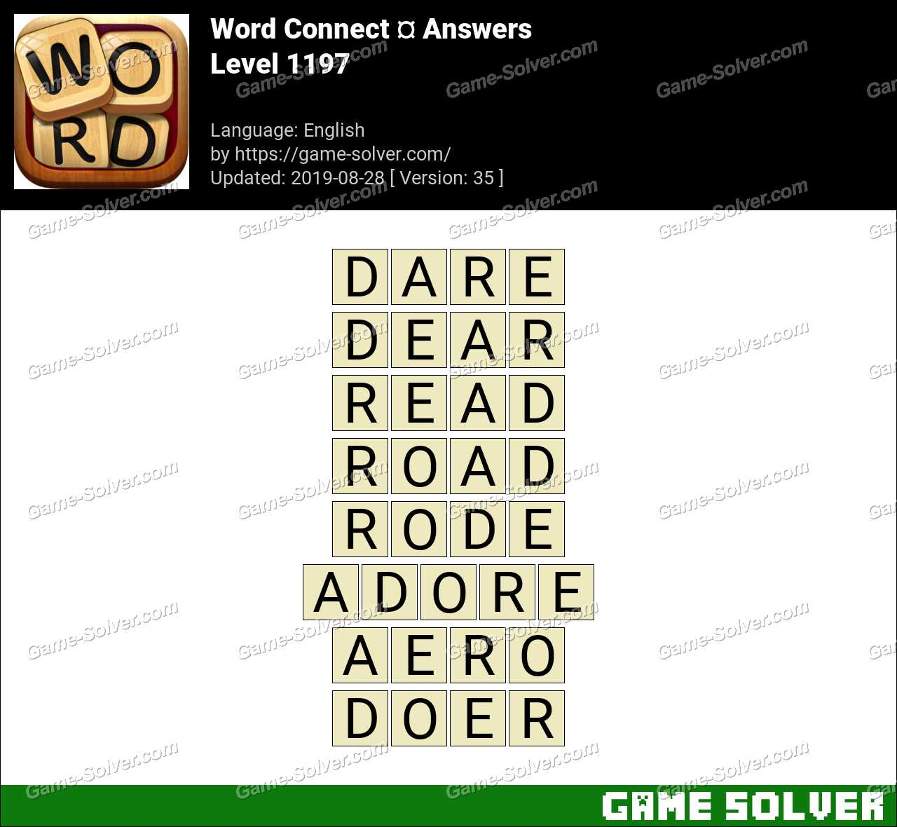 Word Connect Level 1197 Answers