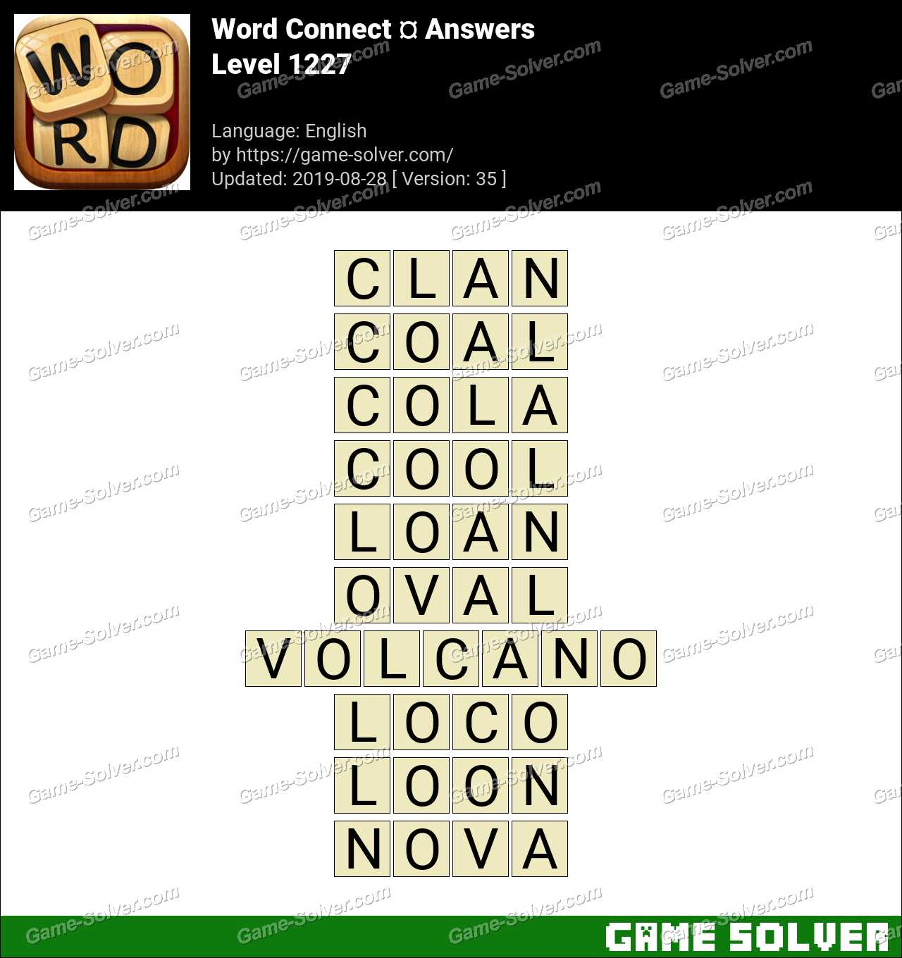 Word Connect Level 1227 Answers