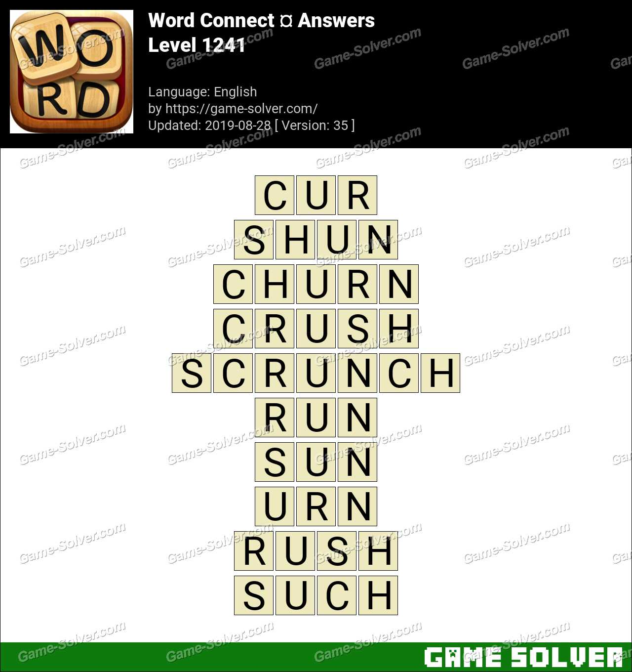 Word Connect Level 1241 Answers