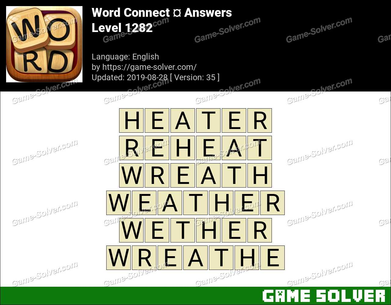 Word Connect Level 1282 Answers