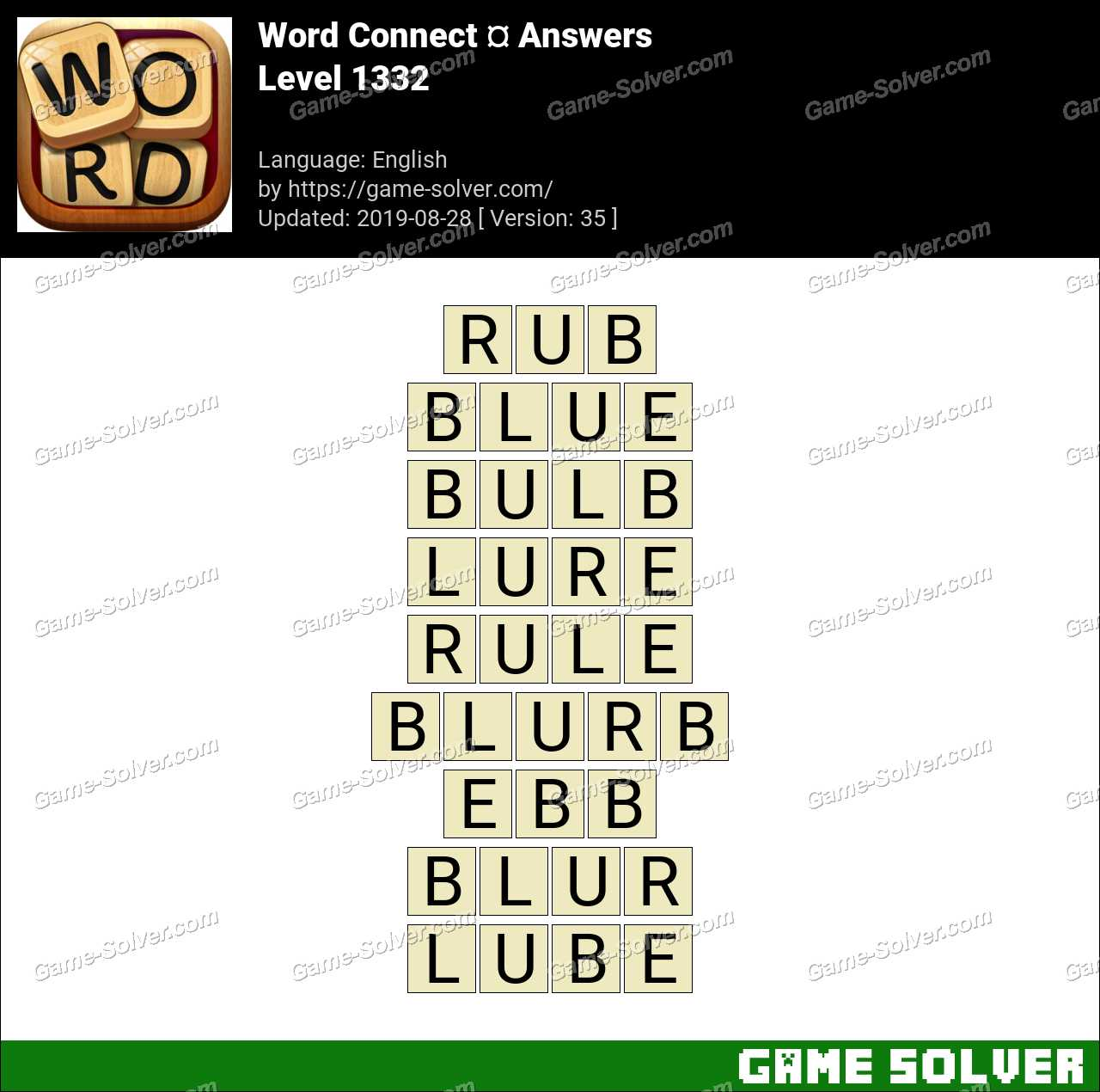 Word Connect Level 1332 Answers