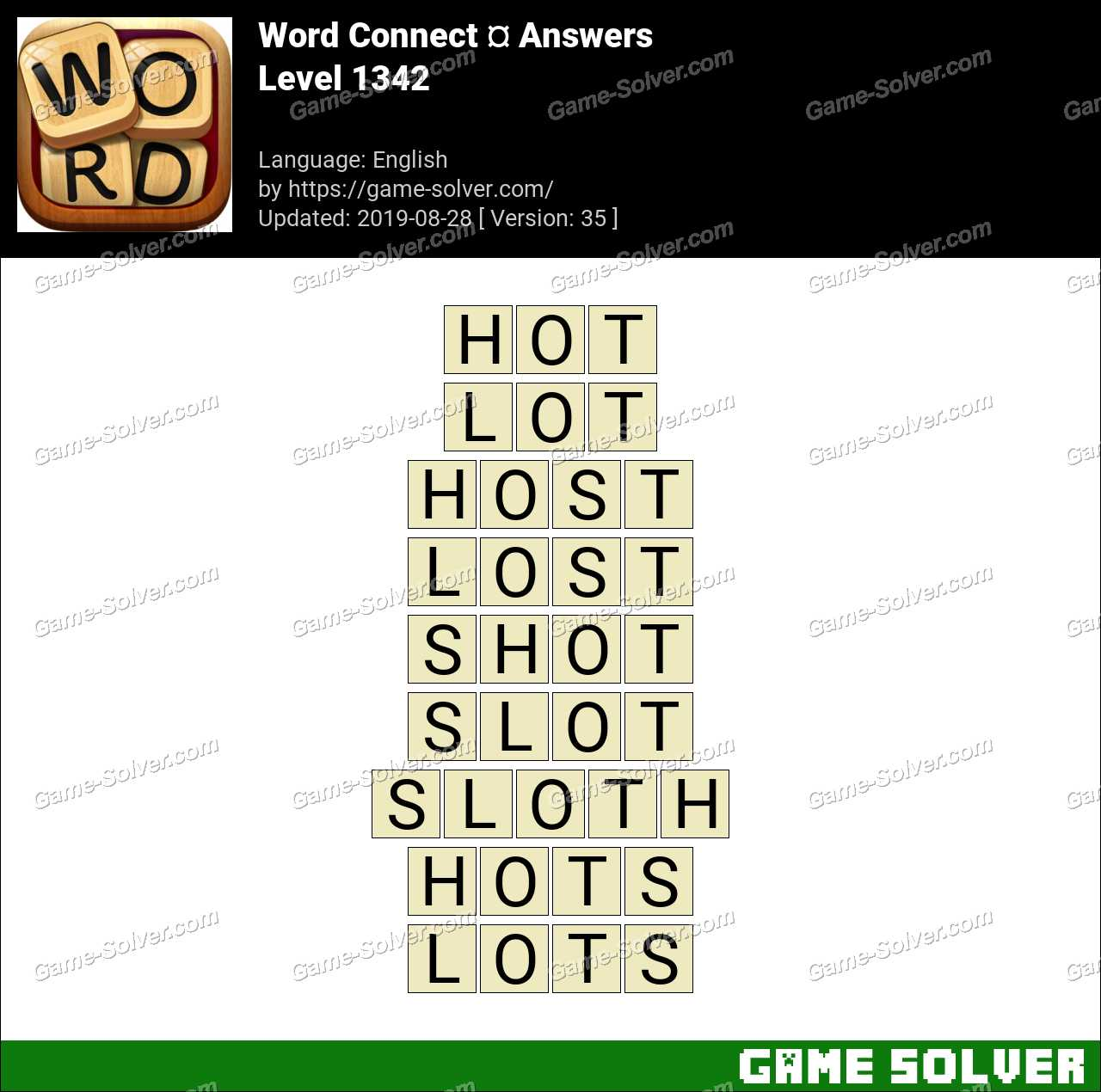Word Connect Level 1342 Answers