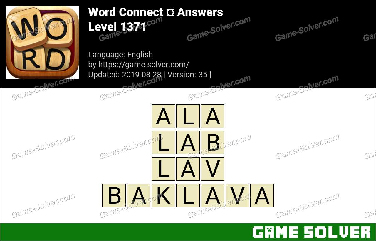 Word Connect Level 1371 Answers